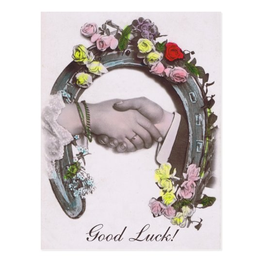 Good Luck Vintage Horseshoe Postcard