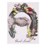 Good Luck Vintage Horseshoe Postcards