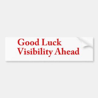 Good Luck Visibility Bumper Sticker