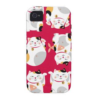 Good luckcat,chinese,feng shui,Maneki Neko,pattern iPhone 4 Covers