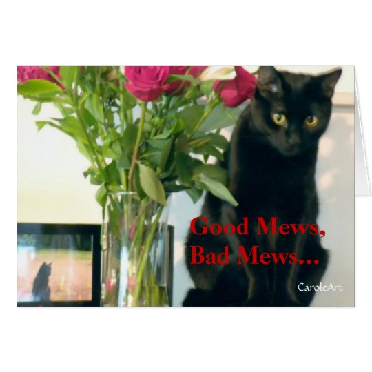 """Good Mews/Bad Mews"" Birthday Card"