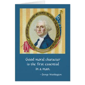 Good Moral Character Greeting Card