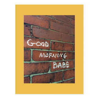 Good morning babe postcard