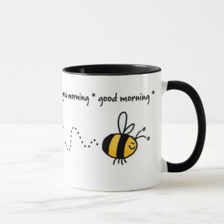 good morning bee trail mug