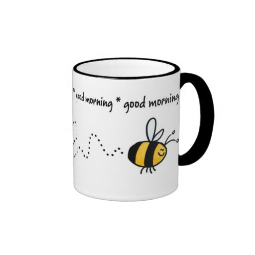 good morning bee trail mug