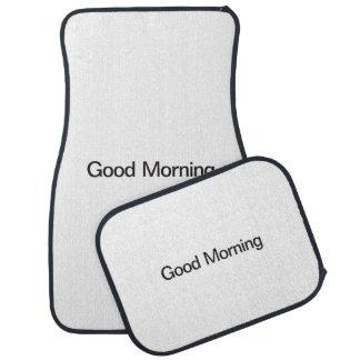 Good Morning Car Mat