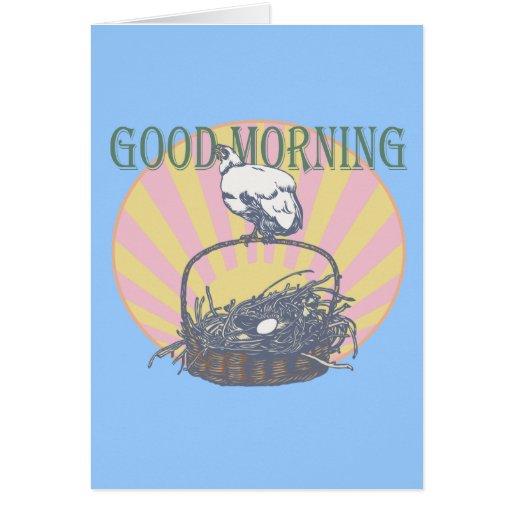 Good Morning Chicken Cards