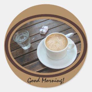 Good Morning Classic Round Sticker