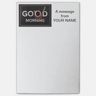 Good Morning Coffee custom Post-It notes