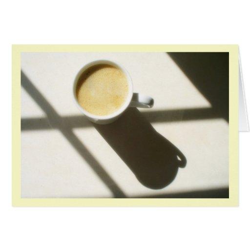 Good Morning Coffee Glow Greeting Cards