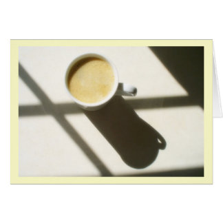 Good Morning Coffee Glow Note Card