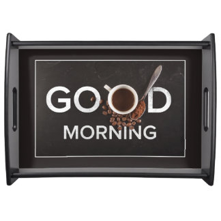Good Morning Coffee serving trays
