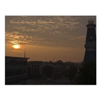 Good Morning Columbus Indiana Postcard