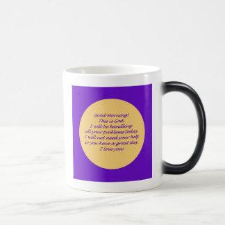 Good Morning from God Morphing Mug
