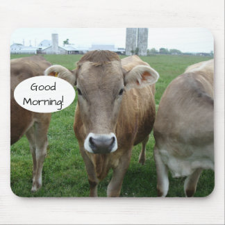 Good Morning from your Local Jersey Cow Coalition Mouse Mat