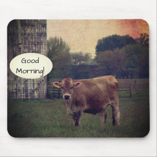 Good Morning from your Local Jersey Cow Farm Mouse Mat