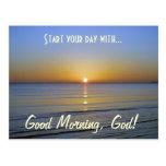 Good Morning, God Inspirational Christian Message Postcard