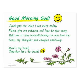 """Good Morning God!"" Postcard"