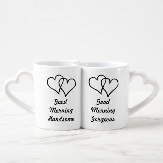 Good Morning Gorgeous Handsome his and hers heart Lovers Mug