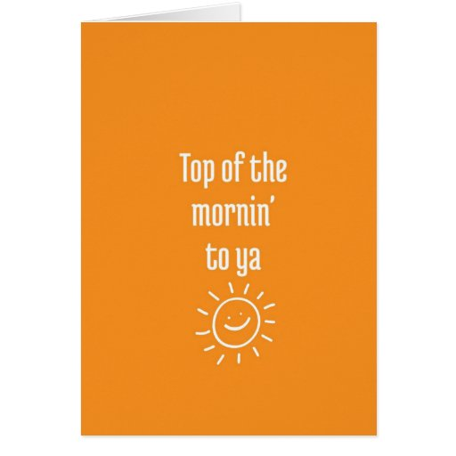 Good Morning: Greetings Cards