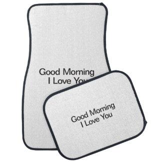 Good Morning I Love You.ai Floor Mat