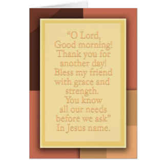 Good morning, Lord! Card