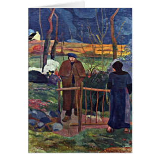 Good Morning Mr. Gauguin By Eugene Paul Gauguin Greeting Cards