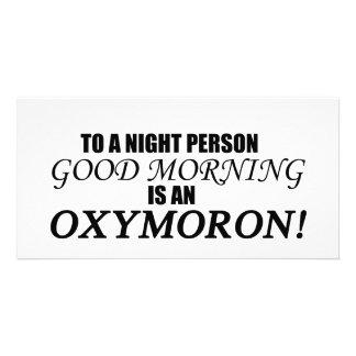 Good Morning Oxymoron Personalised Photo Card