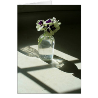 good morning! pansies stationery note card