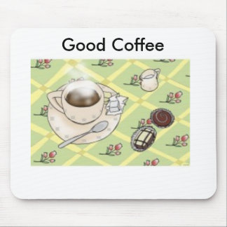 good_morning_print, Good Coffee Mouse Mat