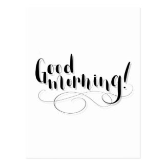 Good Morning Print Postcard
