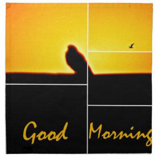 Good Morning Printed Napkins