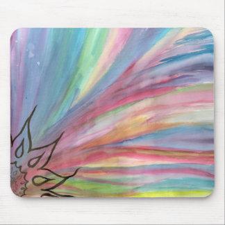 good morning rainbow mouse pad
