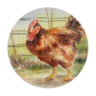 Good Morning: Rooster Cutting Board