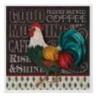 Good Morning Rooster Poster