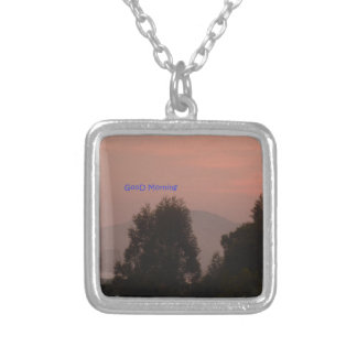 Good Morning Square Pendant Necklace