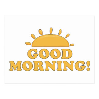 Good Morning Sun Post Card