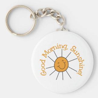 Good Morning Sunshine Basic Round Button Key Ring