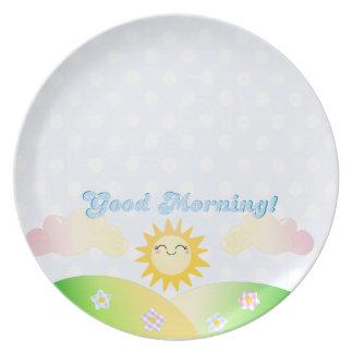 Good morning sunshine breakfast plate