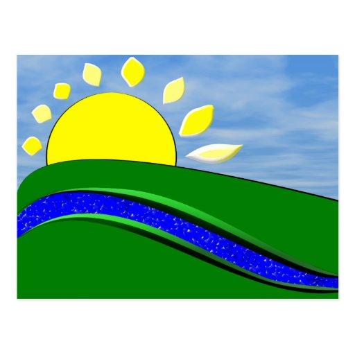 Good Morning Sunshine Day Postcard
