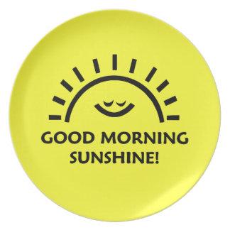 Good Morning Sunshine Party Plates