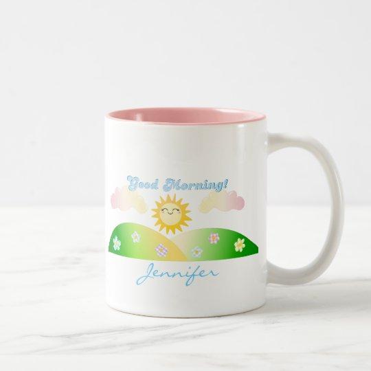 Good morning sunshine personalised breakfast mug
