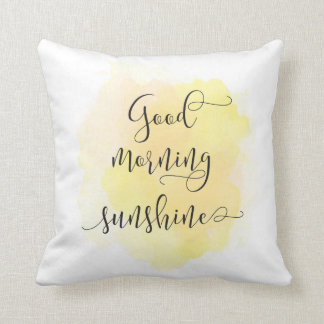 Good morning sunshine pillow