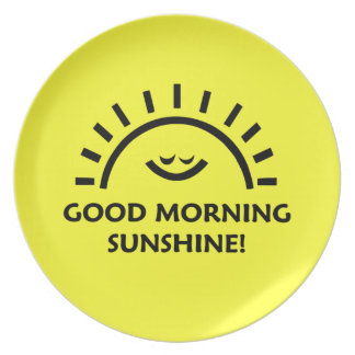 Good Morning Sunshine Plate