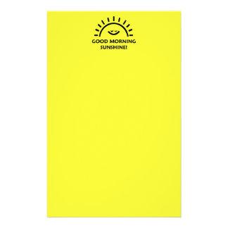 Good Morning Sunshine Stationery