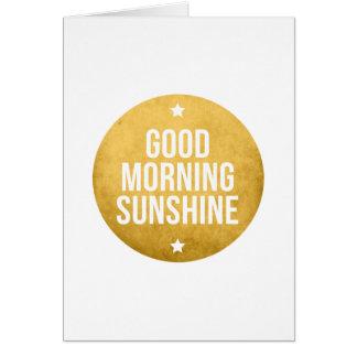 good morning sunshine, word art, text design card