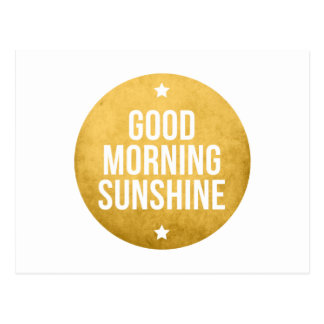 good morning sunshine, word art, text design postcard