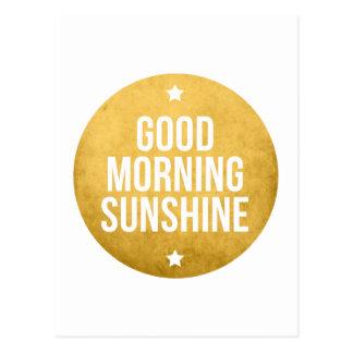 good morning sunshine, word art, text design post cards