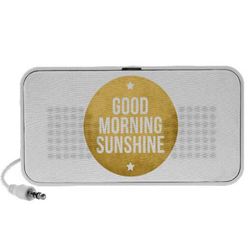 good morning sunshine, word art, text design portable speakers