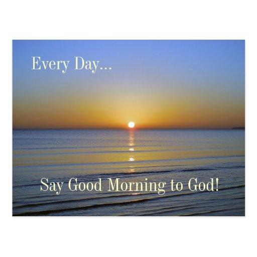 Good Morning to God Sunrise Inspirational Postcard